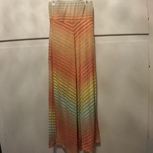 Rainbow Ombre Chevron Stripe Maxi Dress sz S